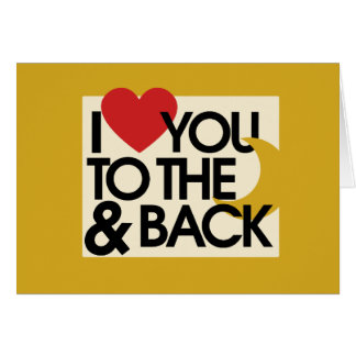 I heart you to the moon and back card