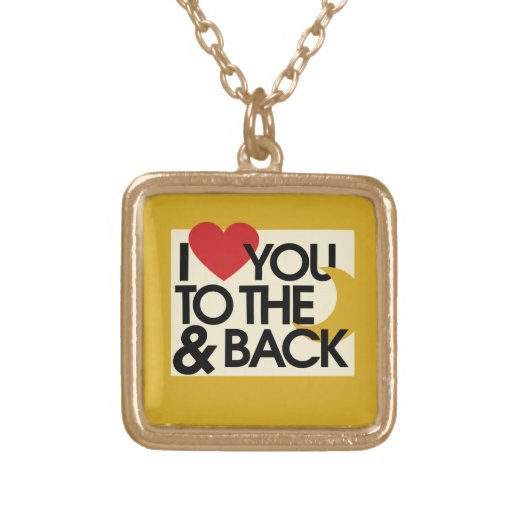 I heart you to the moon and back pendant