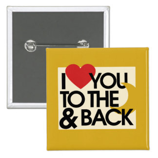 I heart you to the moon and back pin