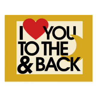 I heart you to the moon and back post card