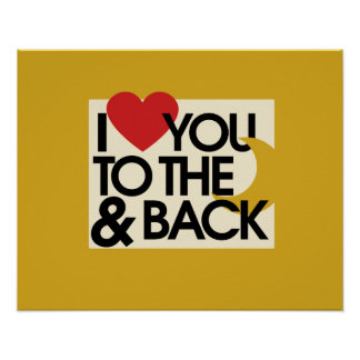 I heart you to the moon and back poster