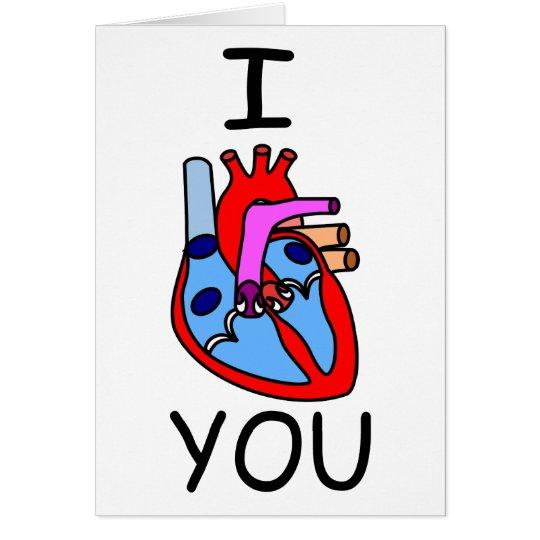 I Heart You Valentine Card