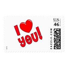 I Heart You Valentine stamp