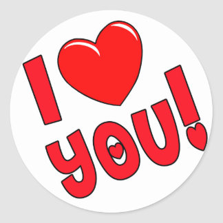 I Heart You Valentine Gifts Round Stickers