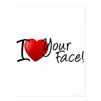 I Heart Your Face Postcard