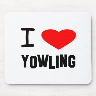 I Heart yowling Mouse Pads