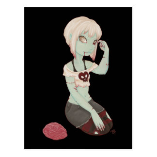I Heart Zombie Girl - Post Card