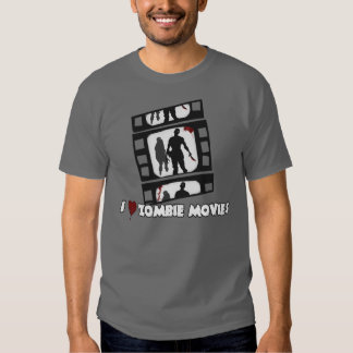 I Heart Zombie Movies Tee Shirt