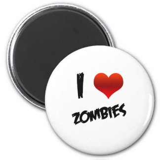 I Heart Zombies 2 Inch Round Magnet