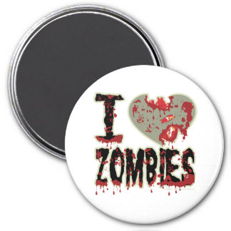 I Heart Zombies 3 Inch Round Magnet