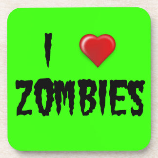 I Heart Zombies Beverage Coaster