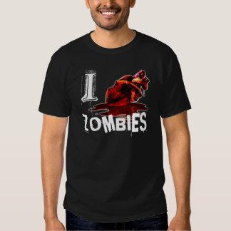 I HEART ZOMBIES - black/white Tee Shirt