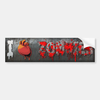 I Heart Zombies Bumper Stickers