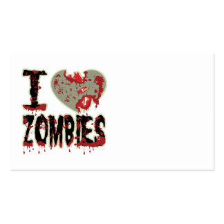 I Heart Zombies Business Card