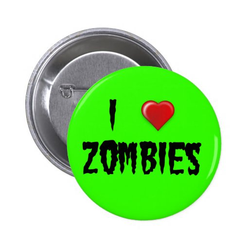 I Heart Zombies Buttons