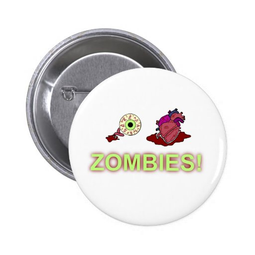 (I) (HEART) ZOMBIES! PINBACK BUTTON