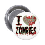 i heart zombies! button