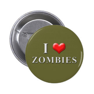 I Heart Zombies Button 002