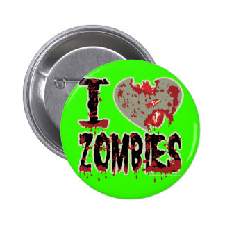 i heart zombies! buttons