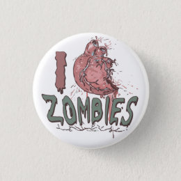 I Heart Zombies by Mudge Studios Button