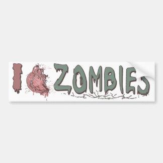 I Heart Zombies by Mudge Studios Car Bumper Sticker