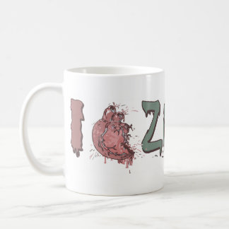 I Heart Zombies by Mudge Studios Coffee Mug