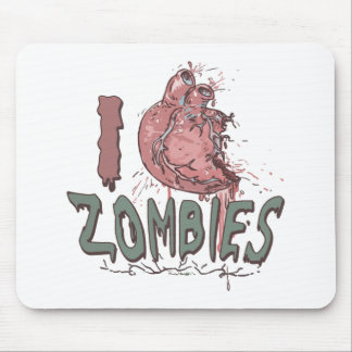 I Heart Zombies by Mudge Studios Mouse Pads