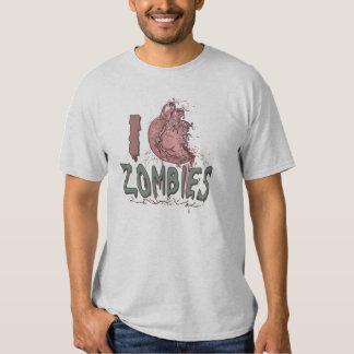 I Heart Zombies by Mudge Studios T-shirt