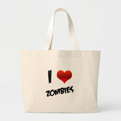 I Heart Zombies Canvas Bag