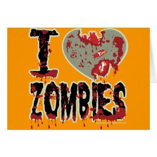i heart zombies! card
