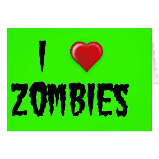 I Heart Zombies Card