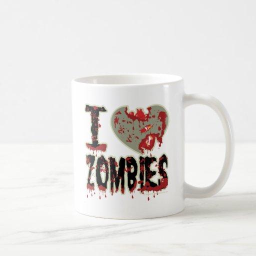 i heart zombies! classic white coffee mug