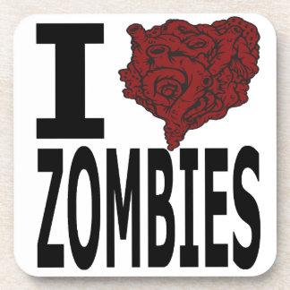 I Heart Zombies Coasters