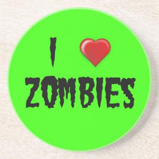 I Heart Zombies Drink Coaster