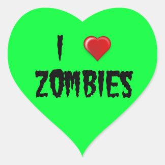 I Heart Zombies Heart Sticker