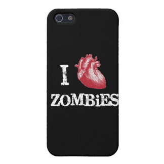I heart Zombies heart zombie funny love bit bitten Cover For iPhone SE/5/5s
