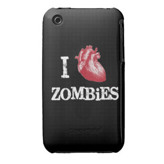 I heart Zombies heart zombie funny love bit bitten iPhone 3 Case-Mate Case