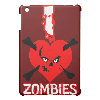 I heart zombies - ipad case for the iPad mini