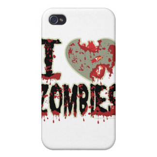 i heart zombies! iPhone 4 case