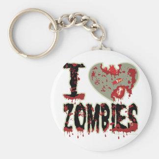 i heart zombies! keychain