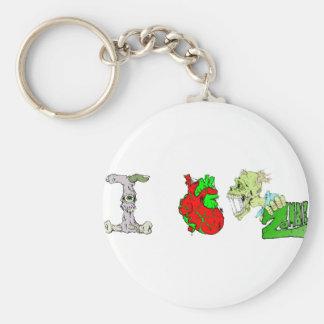 I Heart Zombies Basic Round Button Keychain