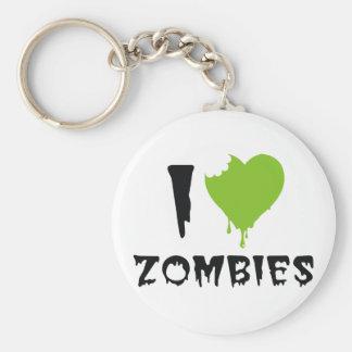 I Heart Zombies Keychain