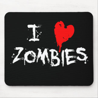 I Heart Zombies - Mouse Pad