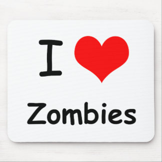 I Heart Zombies Mouse Pad