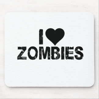 I [HEART] ZOMBIES MOUSE PAD