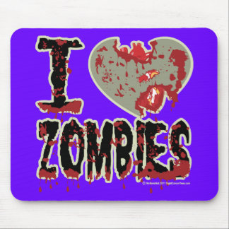 i heart zombies! mouse pad
