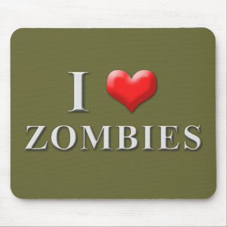 I Heart Zombies Mousepad 002