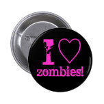 I heart zombies! pinback buttons