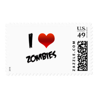 I Heart Zombies Postage Stamps