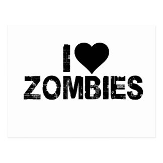 I [HEART] ZOMBIES POSTCARD